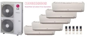LG LMU540HV LSN090HSV4 (THREE) LSN120HSV4 (TWO) Five Zone Ductless Split Air Conditioner