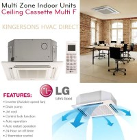 LMCN077HV 7000 BTU LG Ceiling Cassette Air Handler Unit Air Conditioner