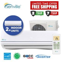 Senville Dual Zone SENA30HFMO Two x SENA12HFI Aura Series SEER 18.5 Air Conditioner