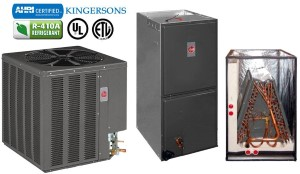 14AJM25A01 RGPT05EBMKR RCQD2417AS 2 TON Rheem Gas Furnace Central Split System SEER 16