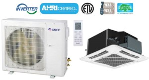 GREE UMAT24HP230V1AO UMAT24HP230V1AC 24,000 BTU SEER 16 Ceiling Cassette Air Conditioner Heat Pump