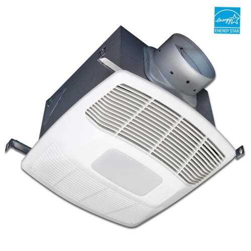 Air King EF130SH 130 CFM 0.4 Sones Dual Speed Humidity Sensing Exhaust Fan with CFL Light and Energy Star Rating from the Eco