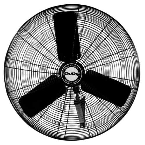 Air King 9035 30' 7400 CFM 3-Speed Industrial Grade Oscillating Wall Mount Fan