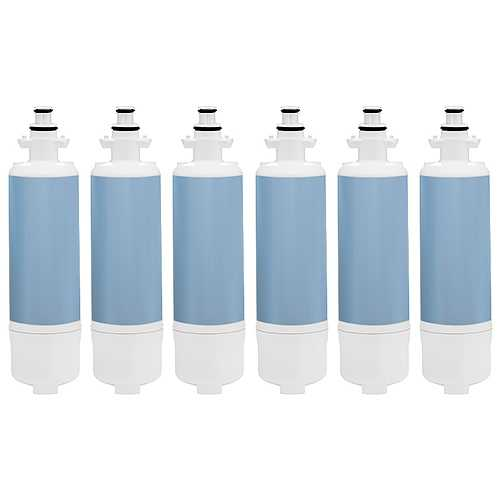 New Replacement Water Filter For Kenmore 74033 Refrigerators - 6 Pack