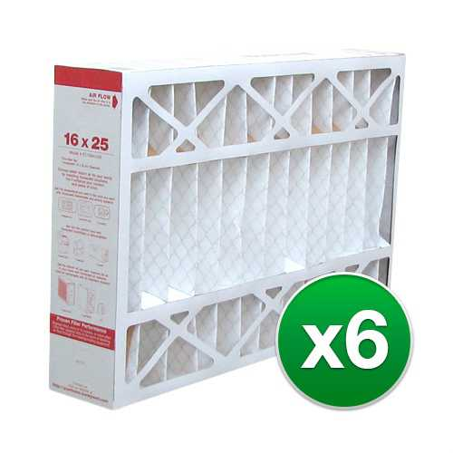 Replacement Pleated Air Filter for For Honeywell FC100A1029 AC 16x25x4 MERV 11 (6 Pack)