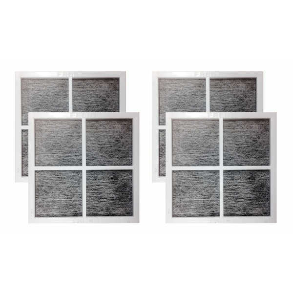 Fits LG LT120F Air Purifying Fridge Filters, Part # 9918 ADQ73334008 and ADQ73214404 (4 pack) - air filter