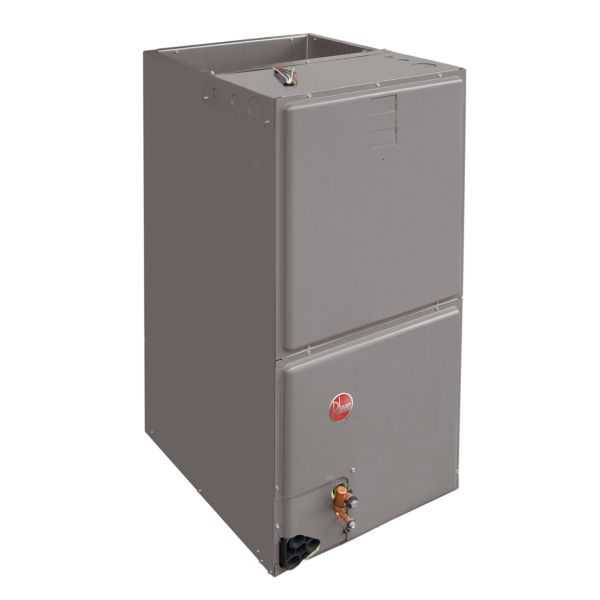 Rheem RH1T6021STANJA - 5 Ton Air Handler, 21' Wide, Constant Torque Motor, Single-Stage Airflow, Aluminum Coil 208/240/1/60