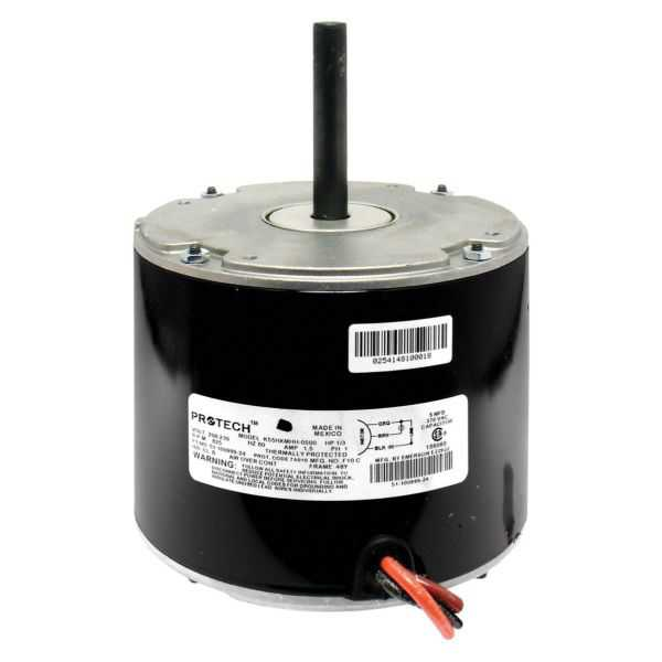PROTECH 51-102500-10 - Condenser Motor - 1/3 HP 208-230/1/60 (825 rpm/1 speed)
