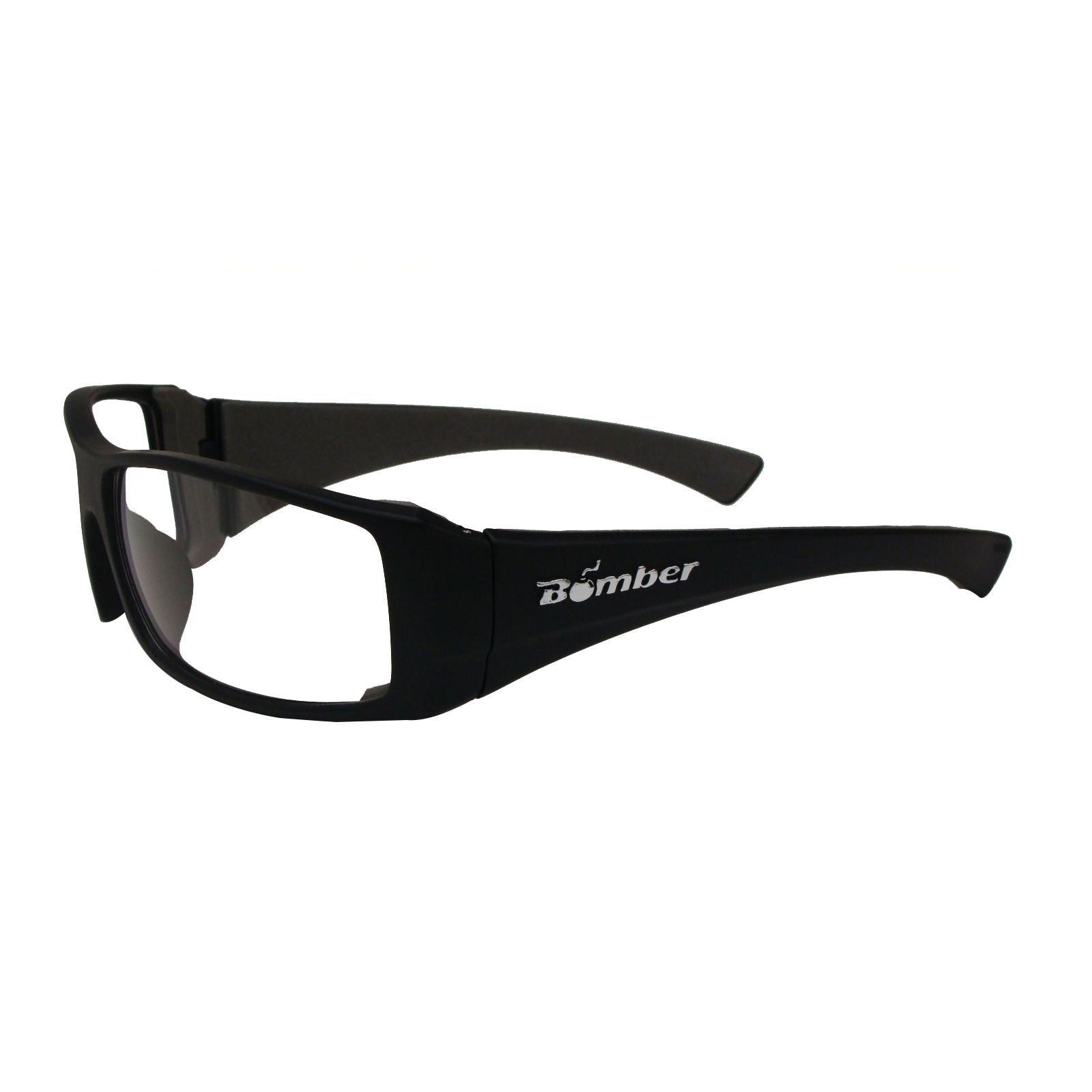 Bomber N101-C -  # Nitro-Bomb Safety Glasses, Matte Black Frame / Clear Polycarbonate Lens
