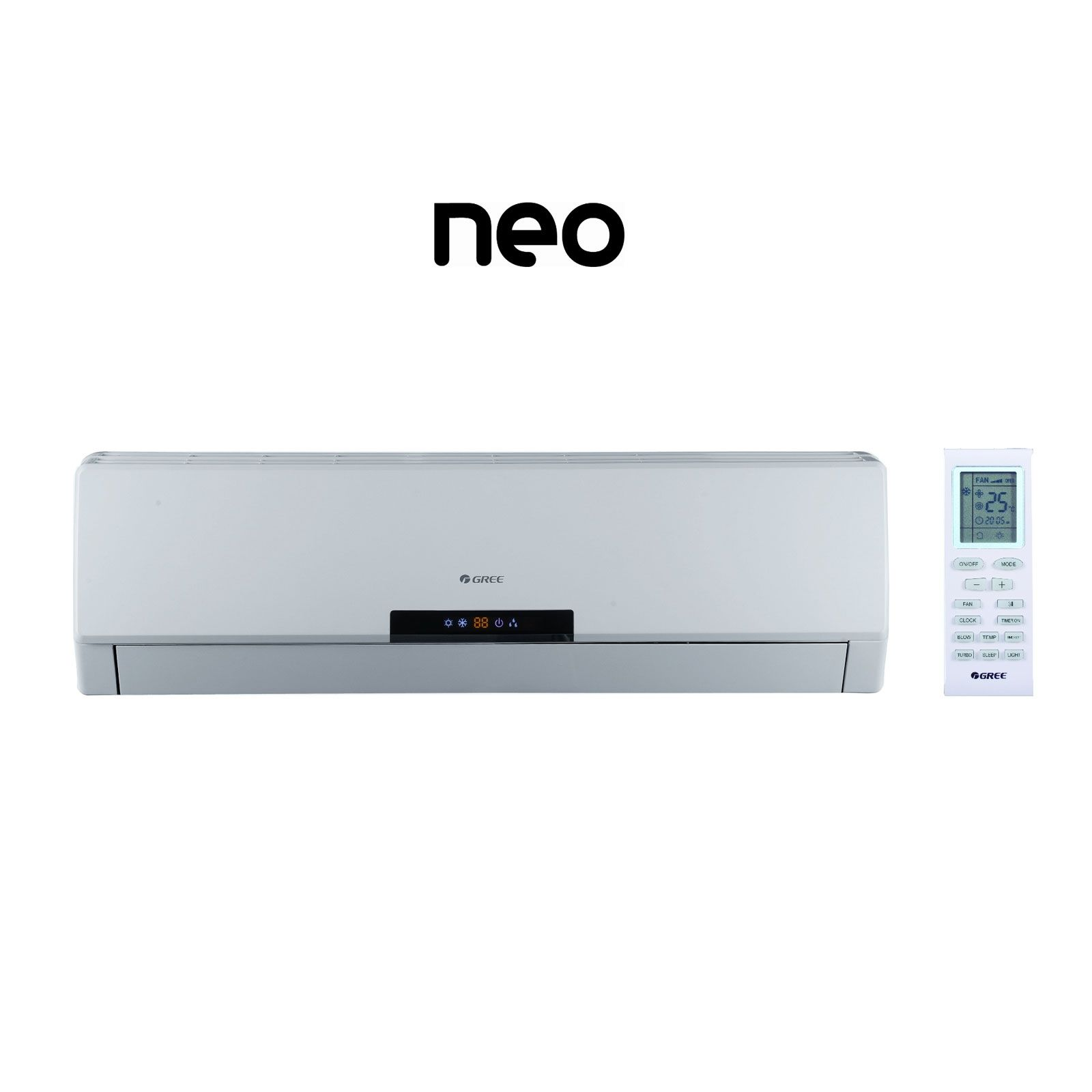 GREE NEO09HP230V1AH - 3/4 Ton 22 SEER NEO Ductless Mini-Split Indoor Unit 208-230 V