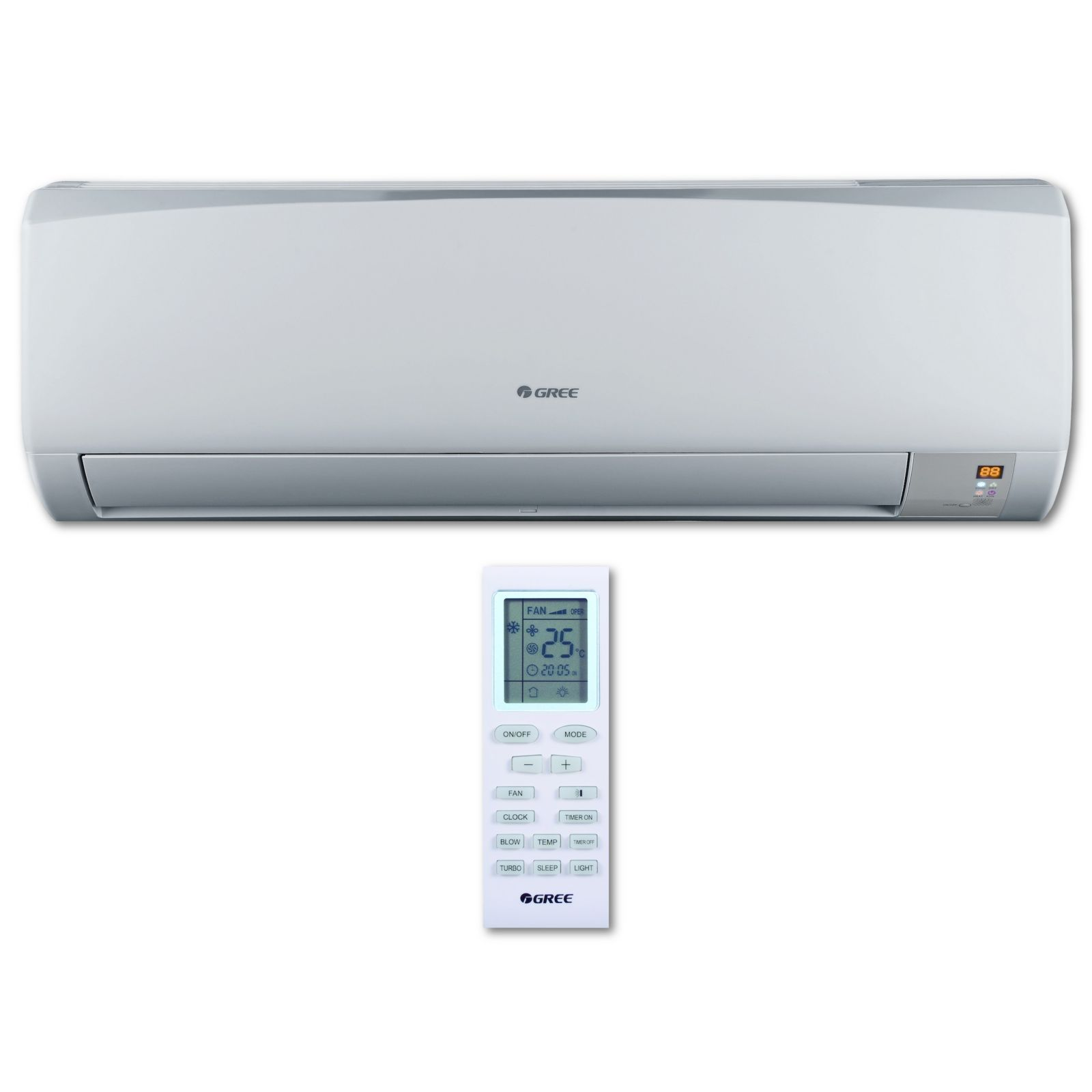 GREE RIO09HP230V1BH - 3/4 Ton, 16 SEER, 12.0 EER RIO Ductless Mini-Split Indoor Unit 208-230 V