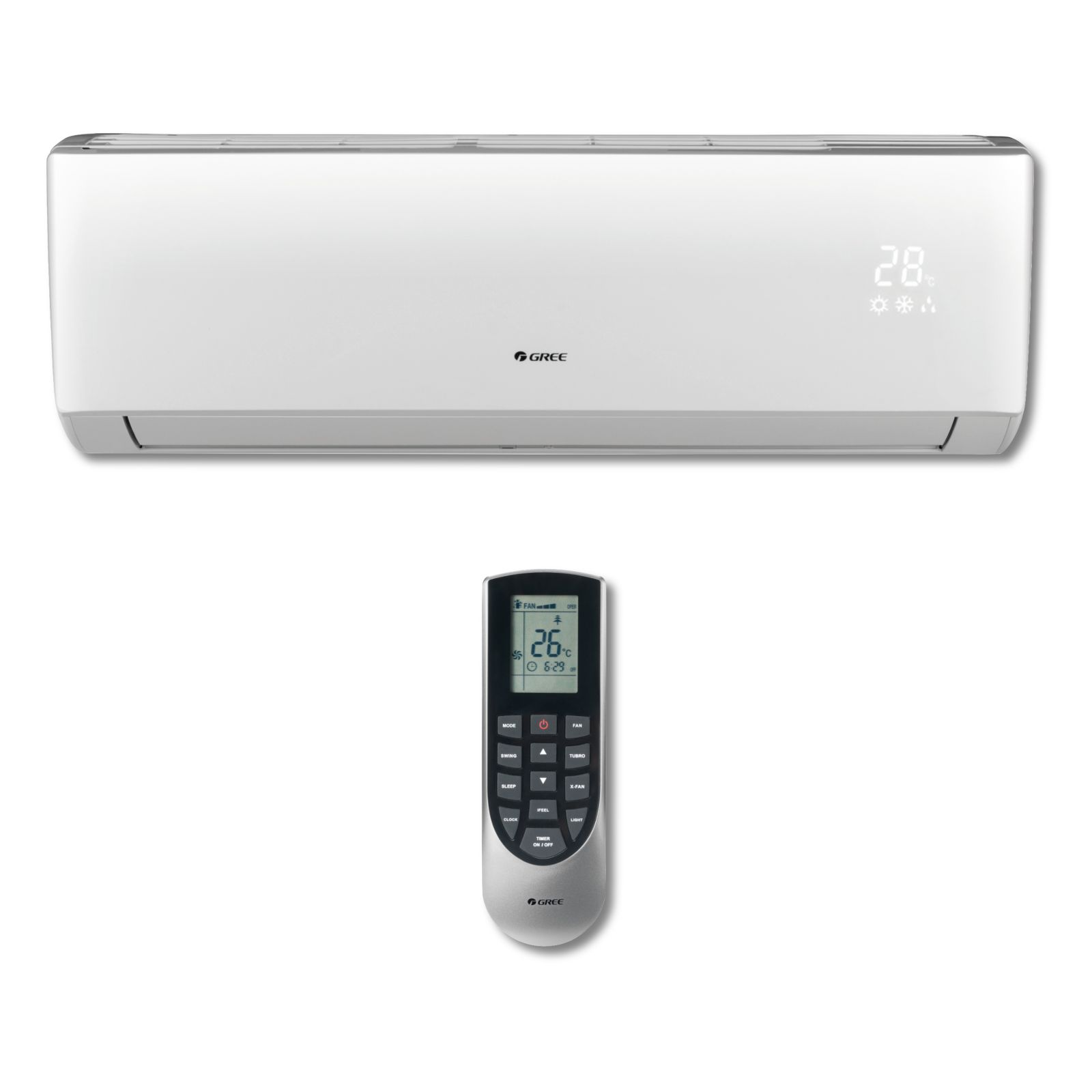 GREE VIR09HP230V1AH - Vireo 9,000 BTU Wall Mounted Inverter Heat Pump Indoor Unit 230V